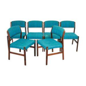 Ensemble de 6 chaises en palissandre