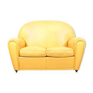 canape cuir jaune comparer 43 offres. Black Bedroom Furniture Sets. Home Design Ideas