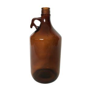 Bonbonne en verre moulé brun