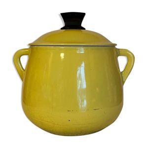Chaudron cocotte en céramique jaune