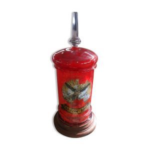 Flacon d'herboristerie époque Napoléon III en verre soufflé