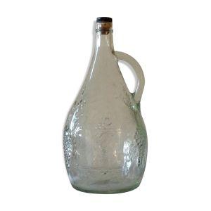 Bouteille en verre moulé vintage 1,75cl