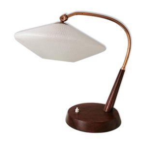 Lampe de table design Temde Leuchten capot en verre années 60