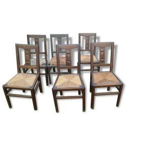 Chaise bois et paillle