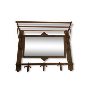 Porte Manteau Art Déco Avec Miroir Et étagère