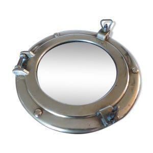 Miroir hublot en laiton années 70 - 29cm