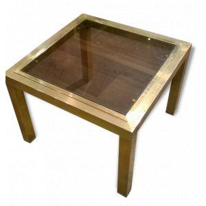 Table d'appoint carrée en laiton