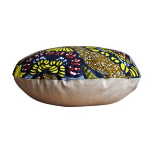 Coussin rond double face wax/lin