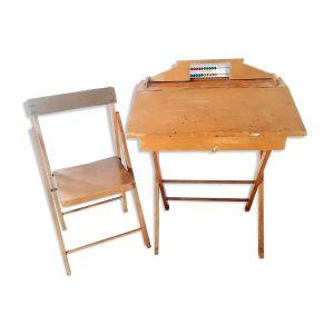 Bureau à boulier et sa chaise 1950