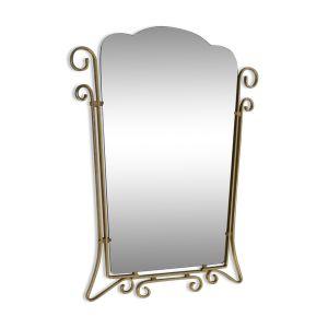 Miroir dans une armature en aluminium 67x54cm