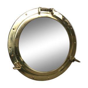Miroir « hublot > laiton 47cm