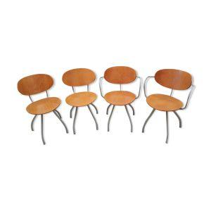 Chaises et fauteuil par Pascal Mourgue