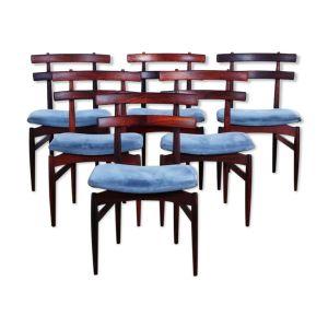 Lot de 6 chaises par Poul Hundevad, Scandinavie