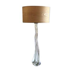 Lampe avec pied en verre
