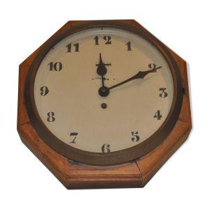 Horloge hexagone en bois