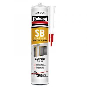 Mastic silicone neutre Rubson PRO 280ml Blanc