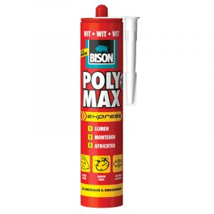 Mastic-colle Bison Poly Max Express 425g Blanc
