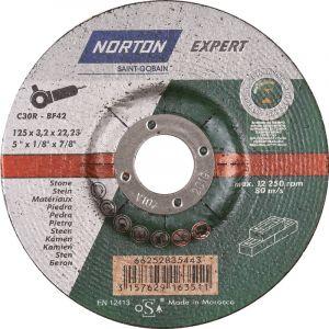 Disque à tronçonner Norton Expert pierre Ø125 22,23x3,2mm