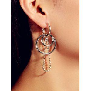Anneaux pendentif boule asymétrique Boucles d'oreilles Argent