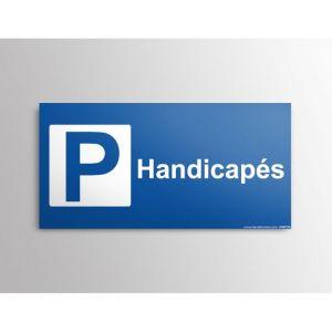 Panneau Parking + texte Handicapé