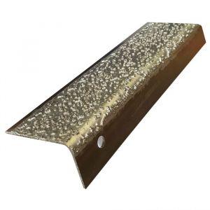 Nez de marche STRONG en inox à particules : Longueur - 2 m, Couleur - Argent