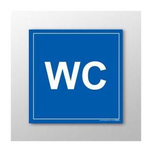 Panneau Signalisation - WC : taille panneau signalisation - 125 x 125 mm, Modèle - Vinyle souple autocollant