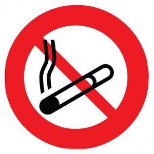 Panneau rond Interdit de Fumer : Modèle - Vinyle souple autocollant