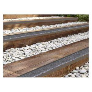 Nez de marche STRONG en inox à particules : Longueur - 1 m, Couleur - Jaune