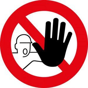 panneau rond accès interdit : Modèle - Vinyle souple autocollant