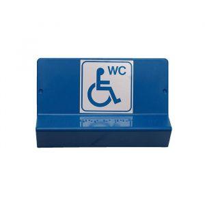 Signalétique WC PMR - braille et gravure : Texte - Handicapés