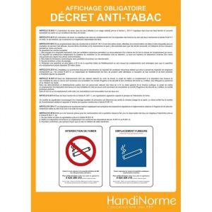 Poster affichage' Décret anti-tabac'