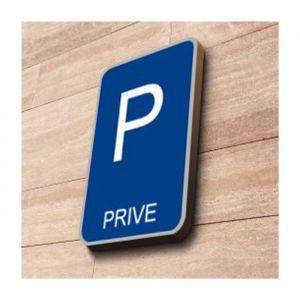 Panneau parking Privé à couvre-chant : Dimensions - 500 x 500 mm