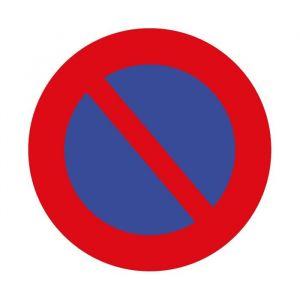 panneau rond interdit de stationner : Modèle - Vinyle souple autocollant