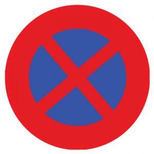 panneau rond interdit de s'arrêter : Modèle - Vinyle souple autocollant