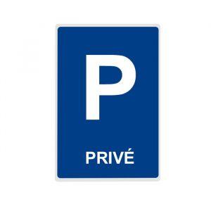 Panneau Parking PRIVE - plat : Dimensions - 300 x 500 mm