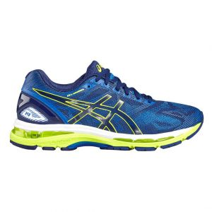 Gel Nimbus 19 - Indigo Blue/Safety Yellow/Electric Blue Bleu - Femme