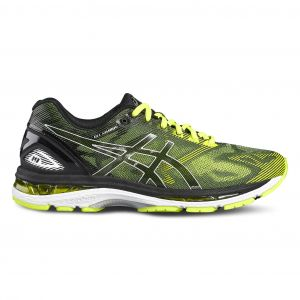Gel-Nimbus 19 - Black safety Yellow Silver Noir - Homme