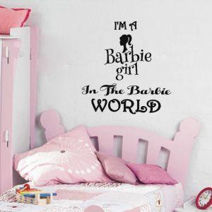 Sticker I'm a barbie girl in the barbie world
