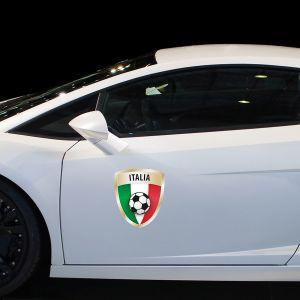 Sticker Drapeau avec le football, Italie