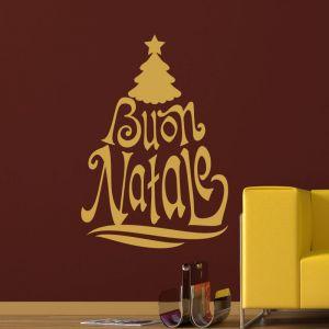 Sticker arbre de Noël en italien