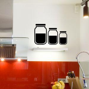 Sticker cuisine Trois bocaux
