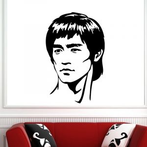 Sticker Portrait Bruce Lee