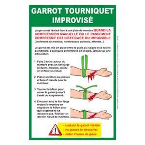 Affiche Garrot improvisé