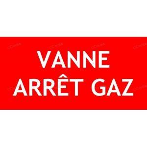 Panneau vanne arrêt gaz Panneaux incendie texte seul