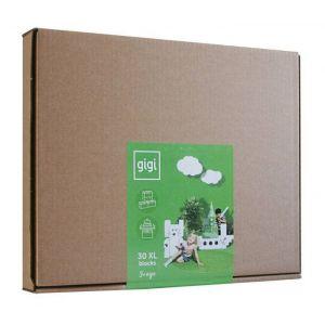 GIGI - 30 briques en carton M - Blanc