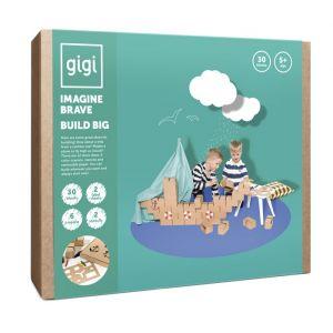 GIGI - 30 briques en carton M - Véhicules