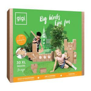 GIGI - 30 briques en carton M