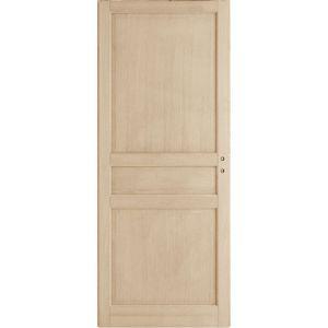 Porte coulissante CLASSIQUE2 chêne plaqué H.204 x l.73 cm R8 cuvette