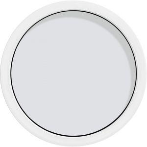 Oeil-de-Boeuf fixe PERFORMANCE ALU Blanc 9016 - diamètre 79 pour Tableau 80