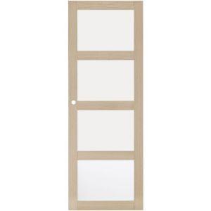 Porte coulissante QUADRAL 4 vitrages H.204 x l.73 cm gauche